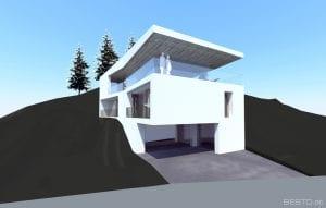 Haus am Hang in Massivbauweise